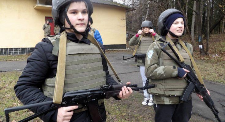 Militarized kids in Ukraine